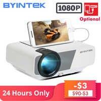 BYINTEK SKY K1/K1plus светодиодный портативный домашний кинотеатр HD мини-проектор (опционально проводной синхронизация дисплей для Iphone Ipad телефон п...