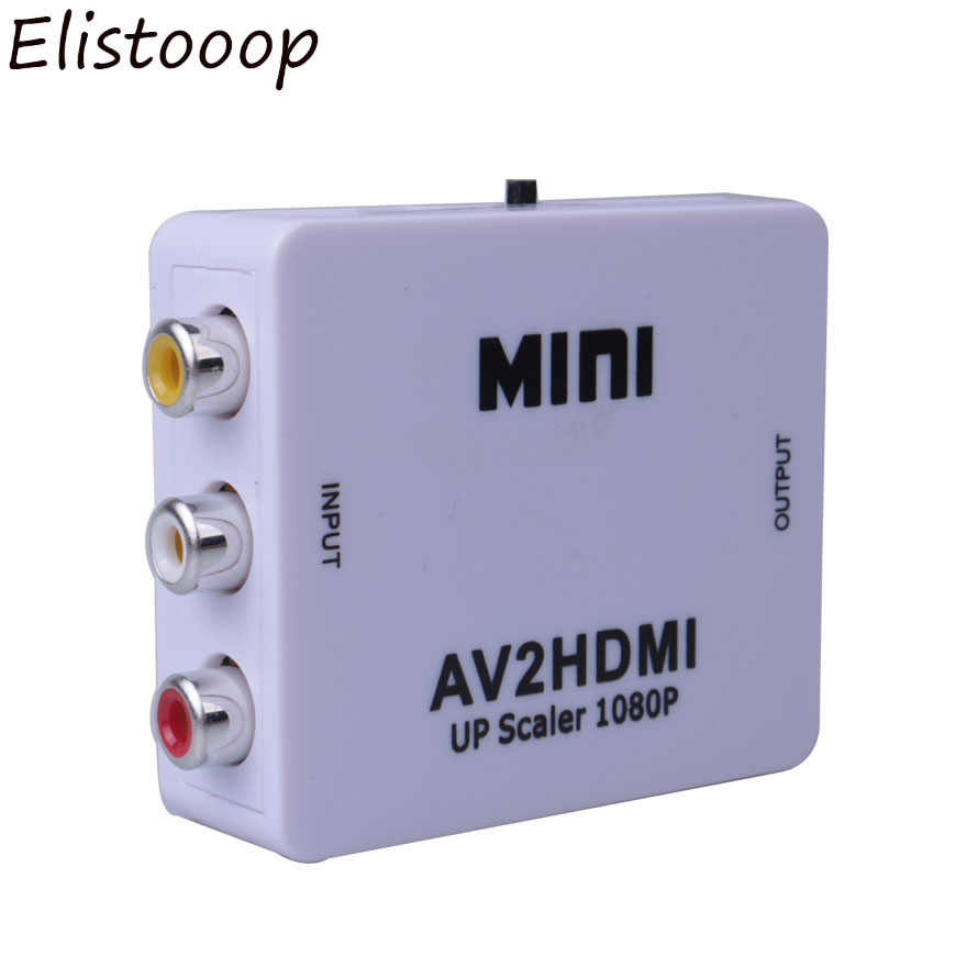 Mini AV2HDMI RCA AV HDMI CVBS to HDMI Converter Box AV to HDMI Video Adapter for HDTV TV  PC DVD Xbox Projector