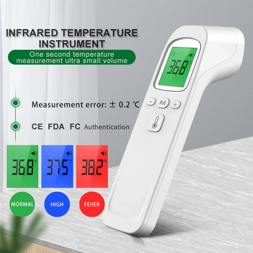 Инфракрасный ЛОБНЫЙ Цифровой Пистолет-термометр ИК Лазерная Бесконтактный инфракрасный термометр с 3 цвета Подсветка Дисплей для маленьки...