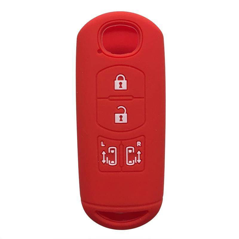 Smart Rubber Silicon 4 Button Sliding Doors Key Holder Remote Case For Mazda CX9 CX8 Biante MPV Interior Accessory Guard