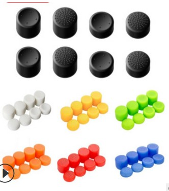 Silicone Analog Thumb Stick Joystick Grips For PS4/PS5 Thumb Grip For Sony Playstation 4 PS4 Pro Slim Replacement Part
