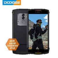 DOOGEE S55 смартфон с 5,5-дюймовым дисплеем, восьмиядерным процессором MTK6750T, ОЗУ 4 Гб, ПЗУ 64 ГБ, Android 8,0, 13 МП