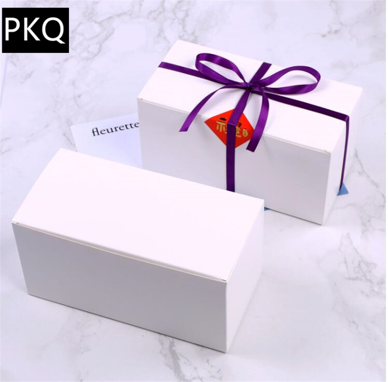 10pcs Pure White Flap Package <font><b>box</b></font> Tray Cake West Point Gift <font><b>Box</b></font> Tea Candy <font><b>Box</b></font> White <font><b>kraft</b></font> <font><b>paper</b></font> <font><b>box</b></font> <font><b>large</b></font> gift packaging boxes image