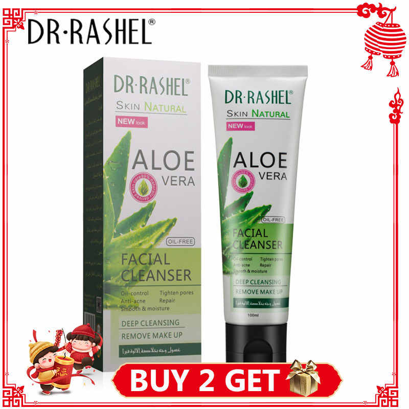 DR.RASHEL Aloe Vera Facial Cleanser Oil-Control Face Wash Anti-acne Deep Cleansing Exfoliating Moisturizing Cream Face Products