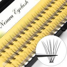 60 sztuk profesjonalny makijaż indywidualne klastra rzęsy szczepienia fałszywe rzęsy przedłużanie rzęs indywidualne rzęsy bunche tanie tanio zhonghuirong Inne 1 cm-1 5 cm Plastikowe bawełna łodyga JJM001 Indywidualne lashes Naturalne długie Hand made 1 piece