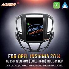 AISINIMI 6G + 128G Android 10 Dvd Navi Player สำหรับ OPEL INSIGNIA 2014 2018รถเสียงสำหรับ Tesla สไตล์ Gps สเตอริโอ Monitor