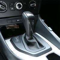 Gałka zmiany biegów samochodu wykończenia 1Pc z włókna węglowego styl ABS dla BMW serii 3 E90 E91 E92 E93 wnętrze na