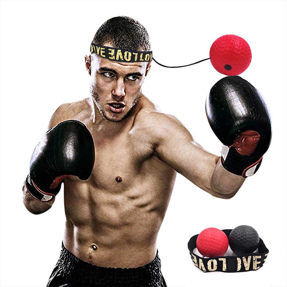 Tinju Refleks Kecepatan Pukulan Bola MMA Sanda Boxer Meningkatkan Gaya Reaksi Mata Tangan Pelatihan Set Stres Gym Tinju Muay Thai latihan