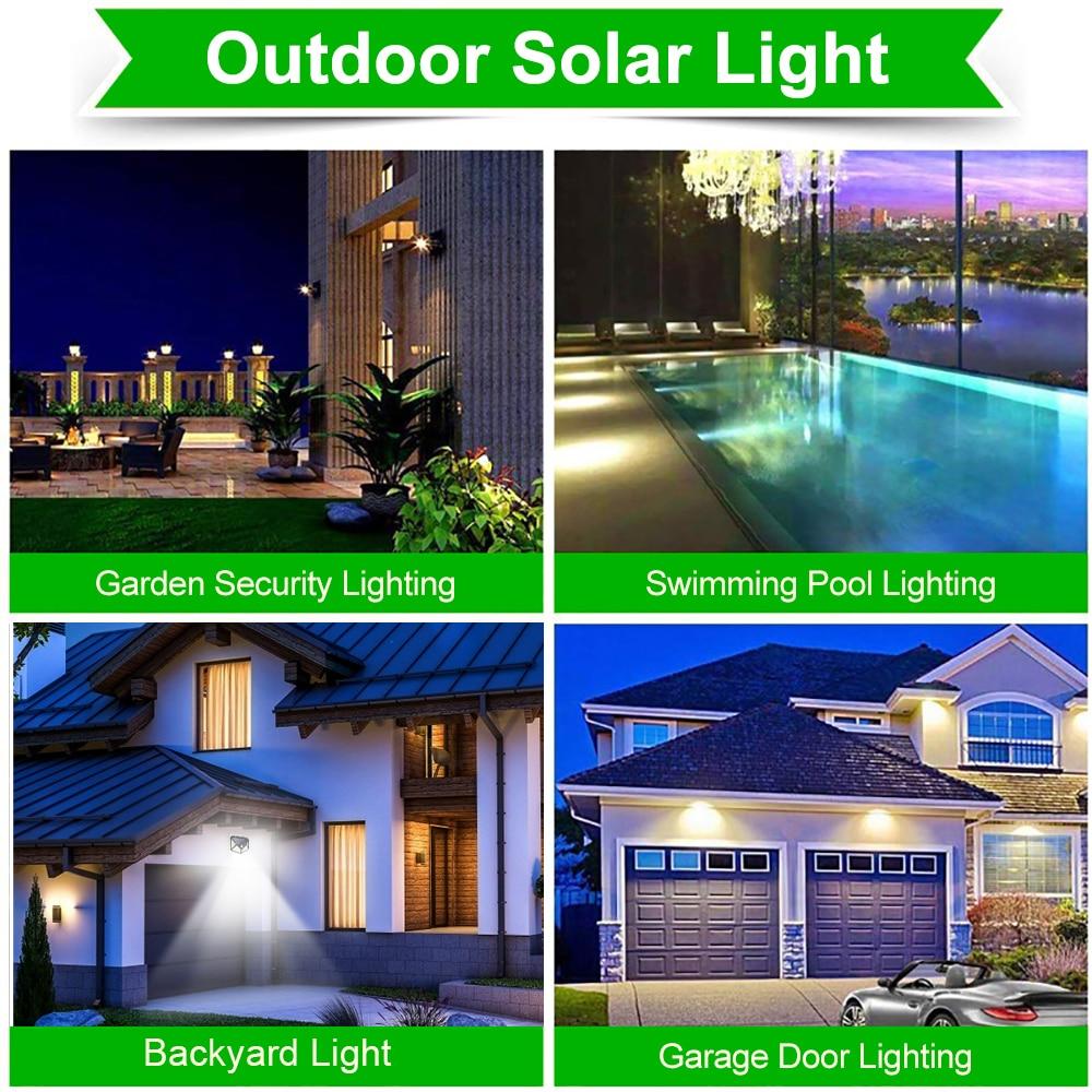 3 Modes LED Solar Light Outdoor Solar Lamp PIR Motion Sensor Wall Light Waterproof Solar Powered Sunlight for Garden Decoration 6