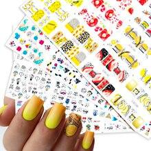 Красочное абстрактное изображение ногтей наклейка для летнее