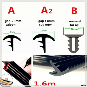 car Rubber 1.6m Soundproof Windshield Sealing Strip Dashboard for BMW E34 F10 F20 E92 E38 E91 E53 E70 X5 M M3 E46 E39 E38 E90 image