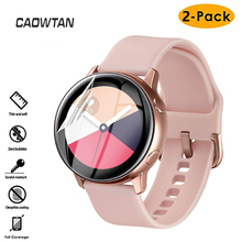 2PCS Slim Ultra-thin Protective Film for Samsung Galaxy 3 46mm 42mm Watch Active Soft 3D Round Edge Screen Protector Cover cheap CAOWTAN CN(Origin) Screen Protector Case Hydrogel Film SSB0075-2PCS