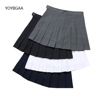 New Women Summer High Waist Pleated Skirts Solid Color Ladies Mini Skirts Preppy Style Sailor Skirt Fashion Casual Women's Skirt casual style high waist solid color cotton blend skirt for women
