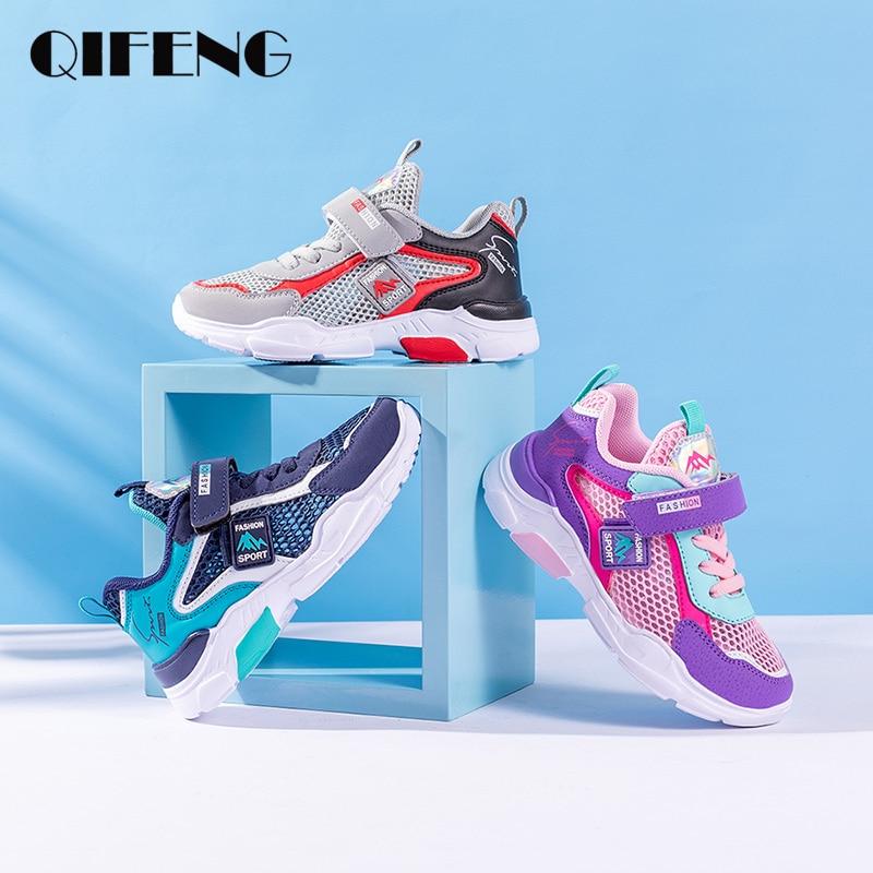Summer Boy Shoes Kids Sneakers Little Girl Shoes Boy Shoe Unisex Sport Shoes Light Sandals Hook Loop Kids Loafers Big Girl Shoes