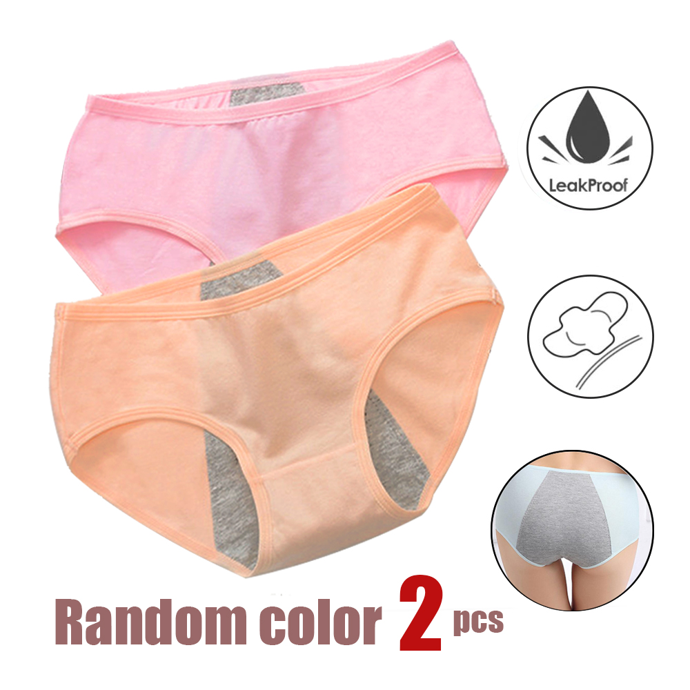 2pcs Leak Proof Menstrual Period Panties Women Underwear Physiological Pants Cotton Ladies Female Briefs Lady Sexy Panties