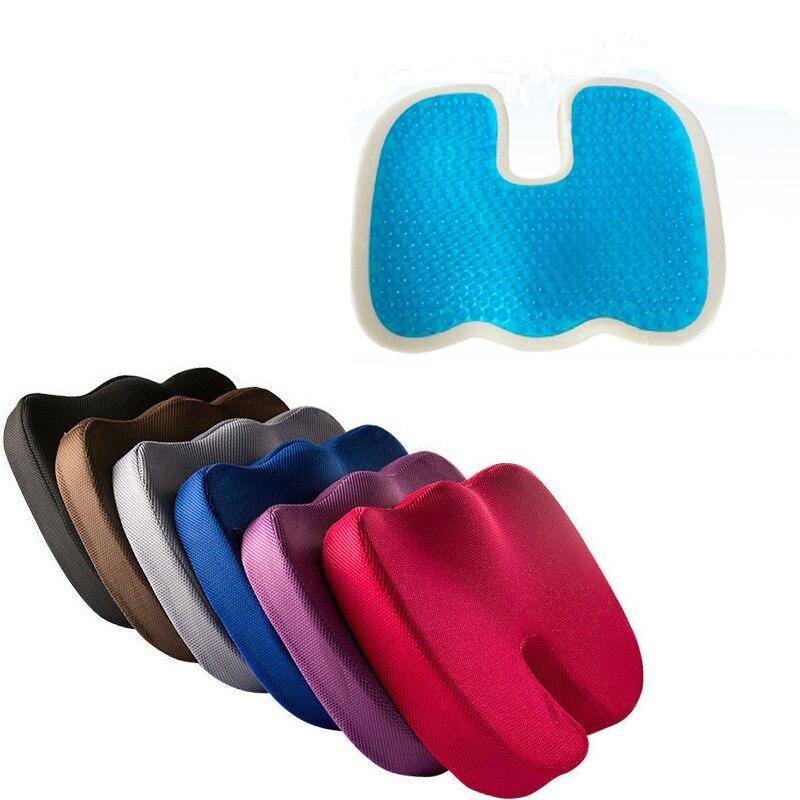 Новая гелевая Подушка для офиса, уплотненная обивка из пены с памятью, u-образная Подушка, силиконовая подушка для дивана, мягкая удобная Cojines Coussin