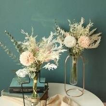 & Artificial Flores Secas Flores Artificiais Flores Falsas Terra Floral Do Casamento Bouquet Partido Home Decor home искуственные цветы