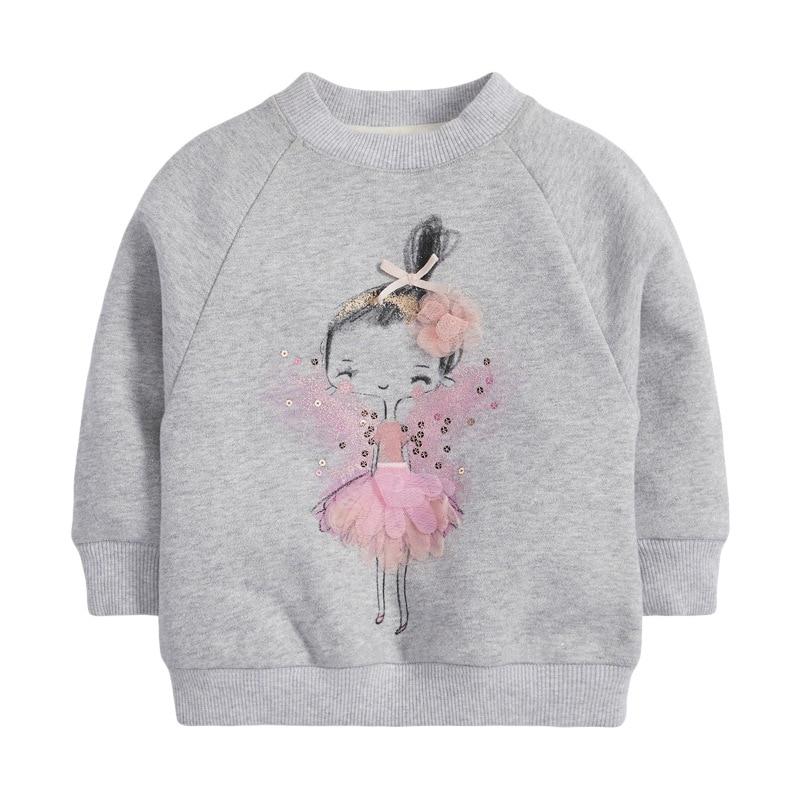 Little Maven children's sweater autumn winter children's sweater girls' long sleeve round neck fleece children's sweater C0311 5