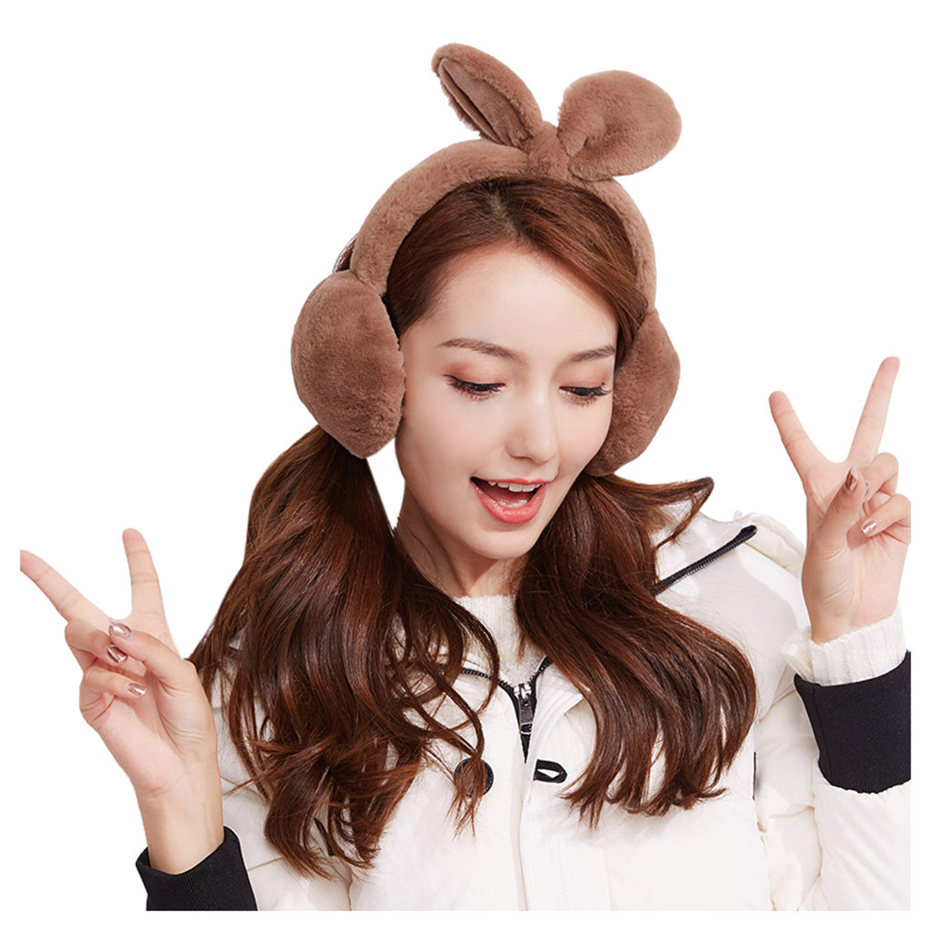 Brand New Fashion Earmuffs Women Imitation Rabbit Fur Winter Warm Female Cotton Ear Warmers Christmas Gifts Fur Earmuffs 1111