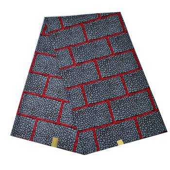 Afrykańska woskowana tkanina tkanina na szycie sukienki moda tiul 100 bawełna Ankara Super prawdziwa Wax materiały dla afryki 6 jardów Loincloth tanie i dobre opinie Ślub