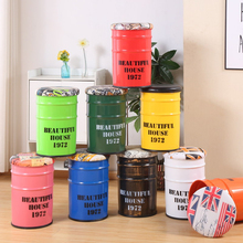 Retro Storage Stools Creative Iron Storage Bucket Vintage Industrial Home Furniture Bar Decoration Chair Ottomans Bedroom Bench