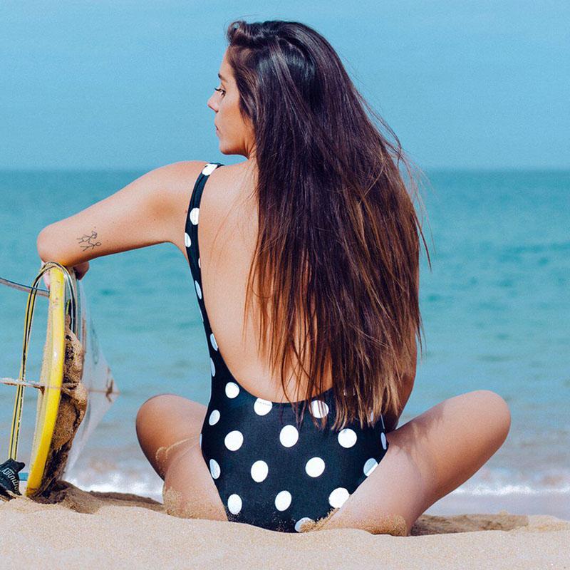 INGAGA, сексуальный цельный купальник на молнии, полосатый купальник, женская одежда для плавания с открытой спиной, монокини, спортивный купа... 33