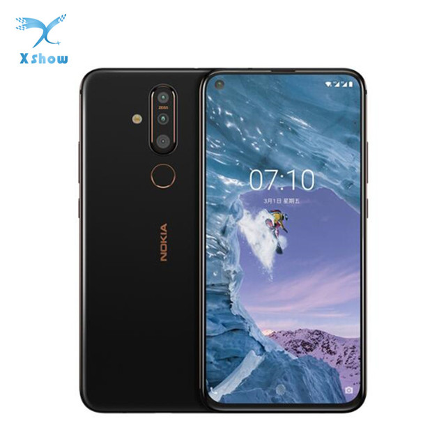 """Global Rom Nokia X71 Mobile Phone 6GB RAM 6.39"""" Snapdragon 660 Octa Core Android 9 48MP Camera Fingerprint 4G LTE Mobile Phone"""