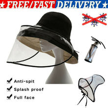 New Adjustable Anti Droplet Full Face Covering Cap Protective Cover Shield Bandage Hats Caps