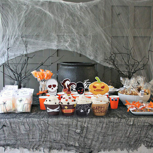 Image 3 - هالوين الكعك كب كيك أكواب ورقية أدوات تزيين الكعكة كب كيك بطانة و كعكة توبر أدوات الخبز كعكة مغلفة ورقة كأس
