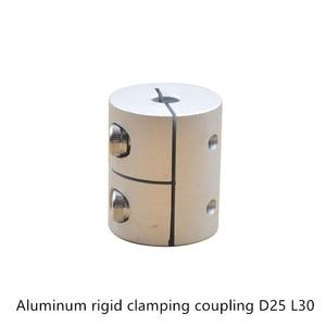 D25l30 5/6/6.35/8/10/12mm acoplador de eixo flexível de alumínio que aperta o conector rígido d25 l30 do motor de acoplamento