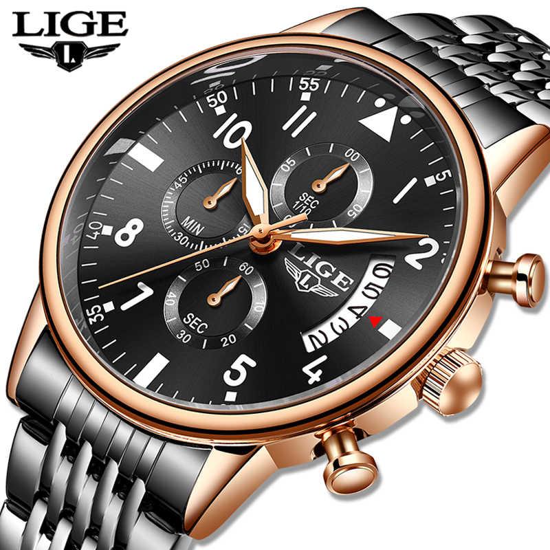 2020 LIGEนาฬิกาแฟชั่นใหม่ควอตซ์นาฬิกาแบรนด์หรูทหารชายนาฬิกาMensกีฬานาฬิกากันน้ำRelogio Masculino