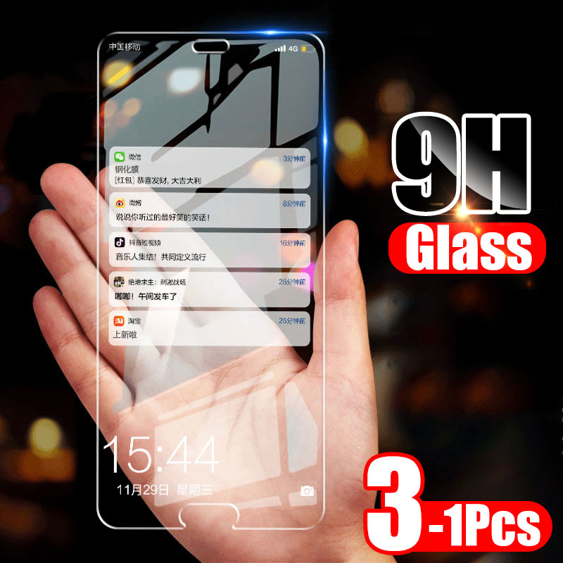 ZNP 3-1 Pcs Screen Protector Tempered Glass For Huawei P30 P20 P10 Lite Full Protective Glass Huawei Mate 20 30 Lite P30 Film