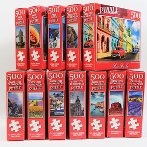 1pcs 500 Pieces Adult Puzzles, Difficult Puzzles, Landscape Oil Painting Puzzles, Easy To Carry, Parent-child Interactive Games
