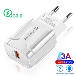 Image 5 - الاتحاد الأوروبي الولايات المتحدة USB شاحن الهاتف تهمة سريعة 3.0 شحن سريع لبنك الطاقة لسامسونج S9 هواوي هاتف لوحي 5 فولت 3A شاحن عالمي