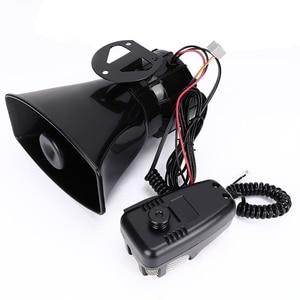 7-Sound Loud Car Warning Alarm Police Fire Siren Air bugle PA Speaker 12V 100W(China)