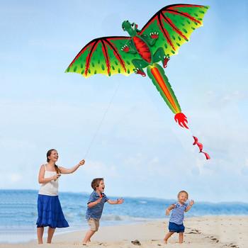 3d Dragon Kite zabawka dla dzieci zabawa na świeżym powietrzu latanie aktywność gra zabawa rodzic-dziecko zabawki interaktywne zabawki antystresowe Детские Игрушки tanie i dobre opinie Poliester CN (pochodzenie) 6 lat Uchwyt i linii latawca Unisex cartoon NONE Pojedyncze