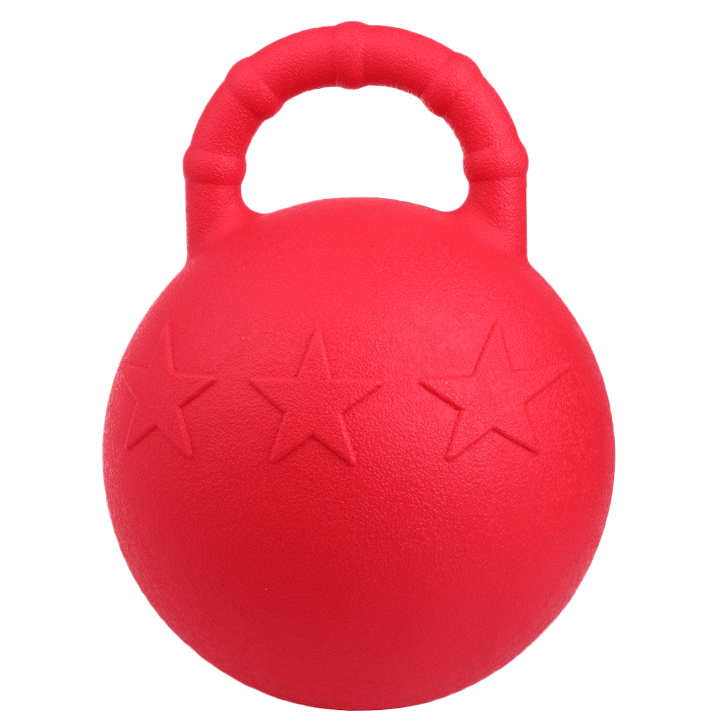 Heavy Duty Chew Ball, Equine Horse Pony Rubber Jolly Balls Soccer Play Toy Stable Field Toys With Handle