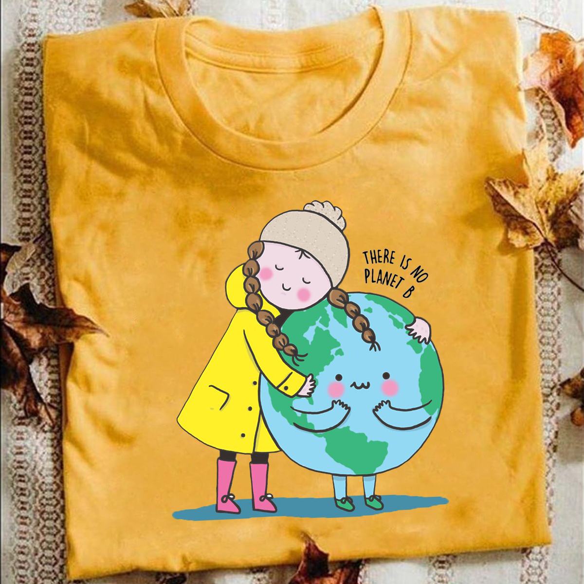 Greta Thunberg There Is No Planet B-Save The Planet Shirt XS-3XL Mens Shirt High Quality 100% Cotton T-shirts For Men And Women