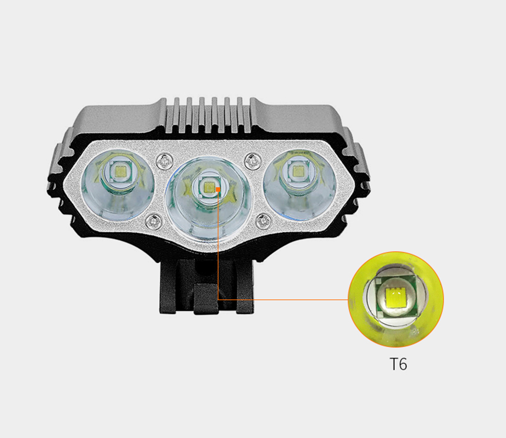 12000 Lumens Bicycle Front Light 3xT6 LED Outdoor MTB Road Bike Headlight Waterproof Safe Cycling Lamp With Battery Pack BC0533 (11)