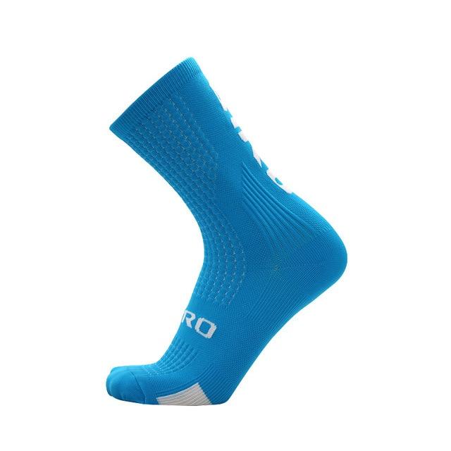 Ciclismo meias homens mulheres joelho meias altas meias de futebol correndo esportes equipe caminhadas meias de algodão sobre o joelho meias 4