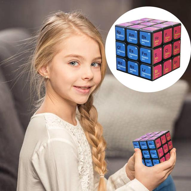 Professional Cube 3x3x3 5.6CM Speed For Magic Cube Chemical Element Periodic Table 3rd-order Cube Learning Formula Education Toy 2