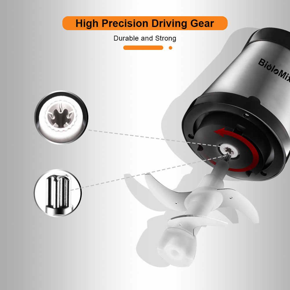 2 velocità 500W In acciaio inox 2L Capacità Elettrica Chopper Meat Grinder Mincer Robot da Cucina Affettatrice