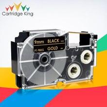 Ribbon Printer Casio Label-Maker Black for Xr-9bkg/Gold/On KL-430 KL-7400 KL-8100 KL-120