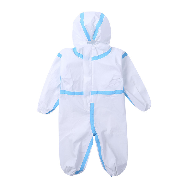 FedEx 100pcs Kids Disposable Protective Garment Boys Girls Isolation Clothes Toddler Baby Hooded Romper Suit Overall Outfits