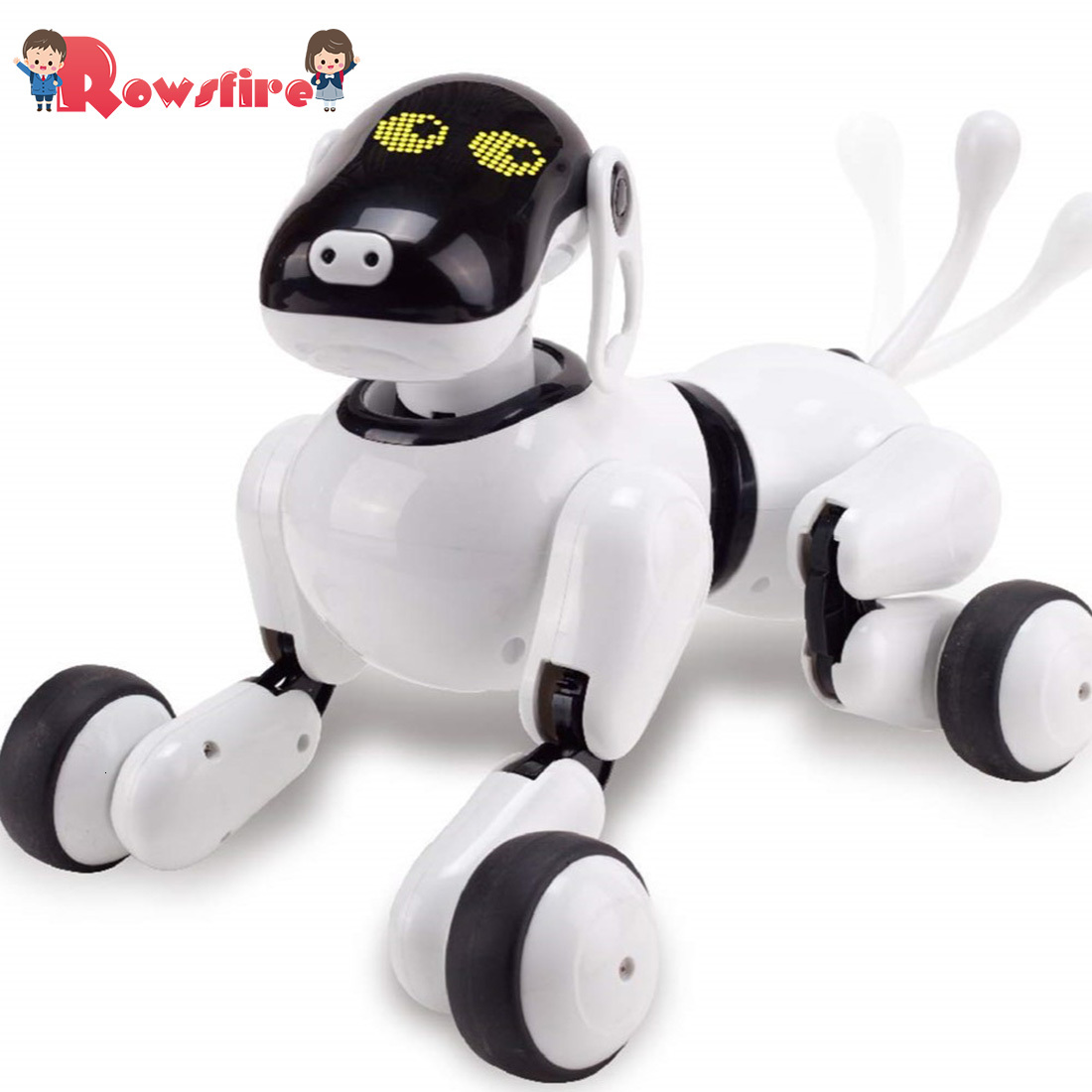 New Children Pet Robot Dog Toy With Interation/ Dancing /Singing /Speech Recognition Control/Touch Sensitive/Actions - White