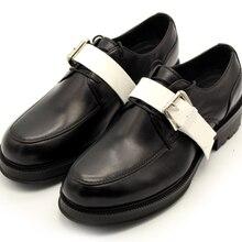 Разноцветная обувь ручной работы с ремешком в деловом стиле; Мужская Свадебная обувь на плоской подошве