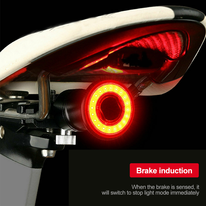 Waterproof USB Bike Taillight Bicycle Smart Auto Brake Sensing Light Rear Light Accessories