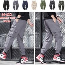 מכנסיים מטען גברים רבים כיסי כותנה Camo הסוואה Pantalones טקטי טחונים Jogger מכנסי טרנינג נער 7XL 8XL זכר מכנסיים