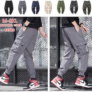 Image 1 - กางเกงCargoผู้ชายหลายกระเป๋าผ้าฝ้ายCamo Camouflage PantalonesยุทธวิธีMilitar Jogger Sweatpantsวัยรุ่น 7XL 8XLกางเกงชาย