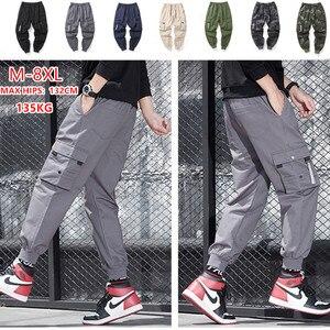 Image 1 - Cargo Pants Men Many Pockets Cotton Camo Camouflage Pantalones Tactical Militar Jogger Sweatpants Teenager 7XL 8XL Male Trousers